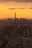 Paris Eiffel Tower at sunset view from Montparnasse Stock Images
