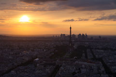 Paris Eiffel Tower at sunset view from Montparnasse Royalty Free Stock Photography