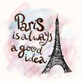 Paris with Eiffel tower Royalty Free Stock Photos