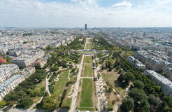 Paris from the Eiffel Tower Stock Image