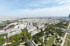 Paris from the Eiffel Tower Royalty Free Stock Photo