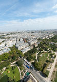 Paris from the Eiffel Tower Royalty Free Stock Image