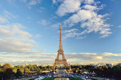 Paris - Eiffel Tower view. A shot of the Eiffel Tower - taken from the Trocadero Plaza Stock Photos