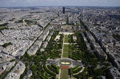 Paris. Eiffel tower view summer city france high air big royalty free stock photography
