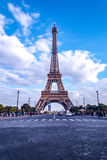 Paris Eiffel Tower. View of the Eiffel Tower from the Trocadéro Place Royalty Free Stock Photography