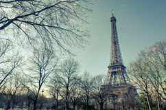 Paris Eiffel Tower vintage effect Royalty Free Stock Image