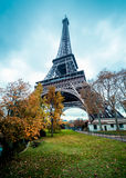 Paris Eiffel Tower, winter colors. Paris Eiffel Tower, icon symbol in cold winter colors royalty free stock image