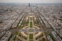Paris from Eiffell Tower Royalty Free Stock Photography