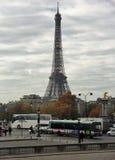 Paris - Eiffeltorn från stället de la Concorde Royaltyfria Bilder