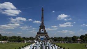 Paris Eiffeltorn Timelapse, Frankrike, film för 4K UHDV (3840x2160) 25fps arkivfilmer