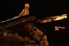 Paris EiffeltornLas Vegas natt nevada Arkivfoton