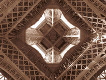 Paris-Eiffelturm-Mitte Stockfoto