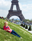 Paris-Eiffelturmtourist Lizenzfreies Stockbild