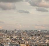 Paris - eine Ansicht der Stadtform oben Stockbilder
