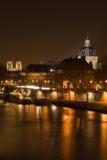Paris em a noite fotografia de stock royalty free