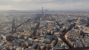 Paris in the end of the afternoon stock video footage