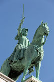 Paris Equestrian Statue of Saint Joan of Arc on basilica Sacre Coeur Stock Image