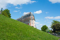 Paris, errichtend in Montmartre Lizenzfreie Stockfotos