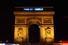 Paris est Charlie (1). Tribute to the victims of the terrorist attack on 7 January 2015 in France #jesuischarlie #parisestcharlie Royalty Free Stock Photo