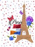 Paris est måndag revet-skjorta design Royaltyfri Fotografi