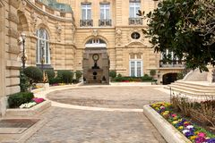 Paris Estate. Beautiful view of a Parisian Estate royalty free stock photography