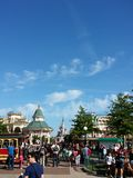 Paris. Euro Disney morning Stock Photography
