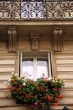paris fönster royaltyfri bild
