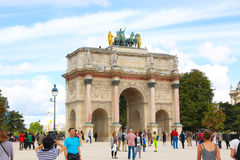 paris för ärke- stadsdagliggande soligt triumphal Royaltyfria Foton