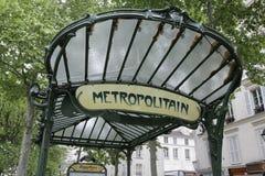 paris för abbedissafrance metro station Arkivbild