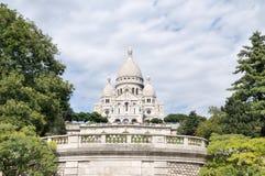 paris för basilicacoeurmontmartre sacre Arkivbild