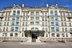 PARIS för bostads- byggnader FJÄRDEDEL i Astana Arkivfoto