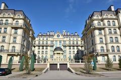 PARIS för bostads- byggnader FJÄRDEDEL i Astana Arkivbilder
