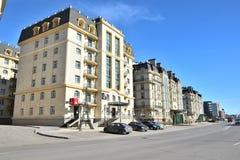 PARIS för bostads- byggnader FJÄRDEDEL i Astana fotografering för bildbyråer