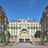 PARIS för bostads- byggnader FJÄRDEDEL i Astana royaltyfri bild