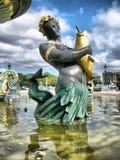 paris för concorde detaljspringbrunn fyrkant Arkivbilder