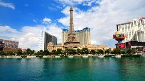 paris för eiffel hotelllas torn vegas Arkivbilder