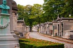 paris för kyrkogårdfrance lachaise pere Arkivbilder