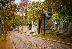 paris för kyrkogårdfrance lachaise pere arkivfoton