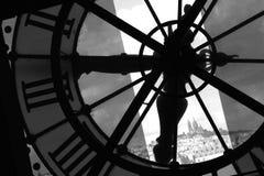 paris för mäktigt museum för klocka orsay tid Royaltyfria Foton