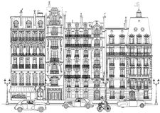 Paris - Facades Royalty Free Stock Photo