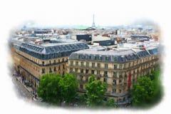 Paris a fait dans le style d'aquarelle Image stock