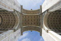 Paris, Famous Arc de Triumph Royalty Free Stock Images
