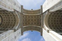 Paris, Famous Arc de Triumph. Detail of Arc de Triomphe aka Arch of Triumph, Paris, France Royalty Free Stock Images