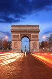 Paris, Famous Arc de Triumph at evening , France Royalty Free Stock Photography