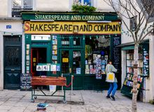 Paris: The famous Shakespeare and Company bookstore Royalty Free Stock Image