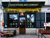 Paris: The famous Shakespeare and Company bookstore Royalty Free Stock Photos