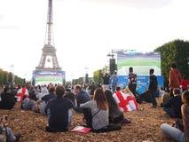 Paris fan zone Royalty Free Stock Image