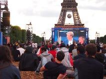 Paris fan zone Royalty Free Stock Photography