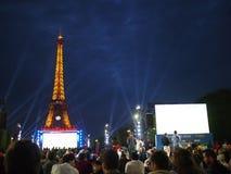 Paris fan zone stock image
