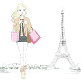 Paris Fashion Girl Royalty Free Stock Photos